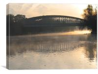 Windsor Railway Bridge, Canvas Print