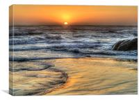 """""""Orange Swirls"""", Canvas Print"""