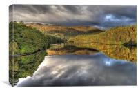 Loch  Faskally reflections, Canvas Print
