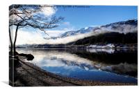 Loch reflections, Canvas Print