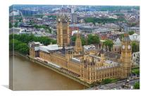 Big Ben from above, Canvas Print
