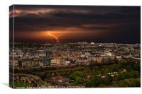 Storm over Edinburgh, Canvas Print