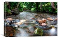 Smooth River, Canvas Print