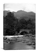 Bridge over Water, Canvas Print