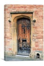 Wooden church door, Canvas Print