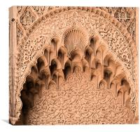 Stone carved arch, Canvas Print