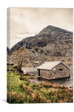Boathouse on Llyn Ogwen, Snowdonia, Canvas Print