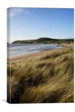 The beach at Croyde Bay, Canvas Print