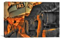 HDR Dungeness Bulldozer, Canvas Print