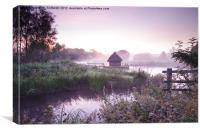 Early morning mist, Canvas Print