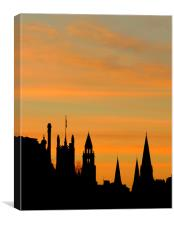 the sun goes down on edinburgh, Canvas Print