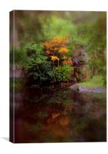 misty fall, Canvas Print