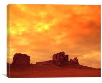 duffus castle2, Canvas Print