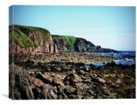 beach of stonehaven, Canvas Print