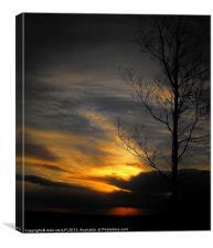 edinburgh sunset, Canvas Print