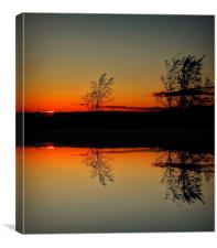 reflection of day, Canvas Print