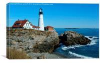 cape elizabeth lighthouse, Canvas Print