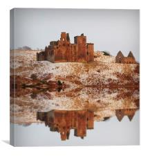 winter crichton castle, Canvas Print