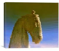 kelpies reflection, Canvas Print