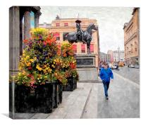 street's of glasgow, Canvas Print