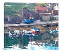 st.abbs head,scotland, Canvas Print