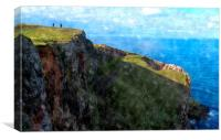 st.abbs head,scotland   , Canvas Print