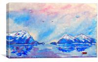 last snowfall highlands...scotland, Canvas Print