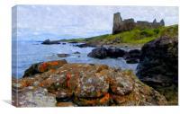 dunure castle,ayrshire, Canvas Print