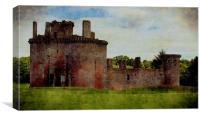 caerlaverock castle, Canvas Print