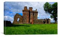 balvaird castle-scotland, Canvas Print