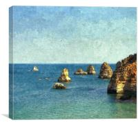 down at the algarve, Canvas Print