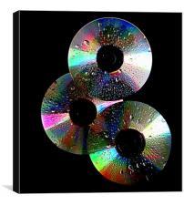 3 cd's, Canvas Print