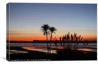 Poole Harbour Sunset Silhouette, Canvas Print