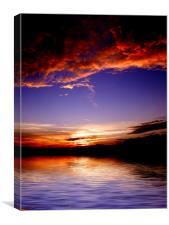 Fire Sky Sea, Canvas Print