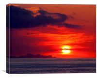 Menorcan Sunset, Canvas Print