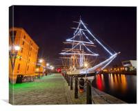 Festive Ship, Canvas Print