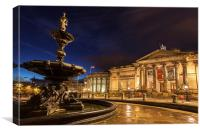 Liverpool by Night, Canvas Print