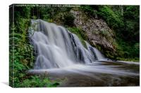 Dess Waterfalls, Aboyne, Canvas Print