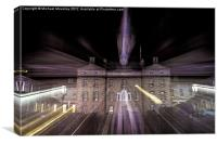 Zoom burst, Robert Gordons College Aberdeen, Canvas Print
