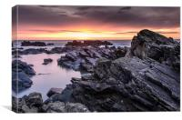 Aberdeen Coast Sunrise, Canvas Print
