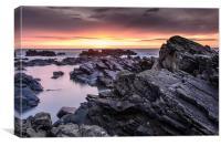 Aberdeen Coast Sunrise, Canvas Print