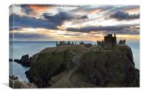 Dunnottar Castle nr Stonehaven at Sunrise, Canvas Print