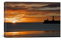 Aberdeen Beach at Sunrise, Canvas Print