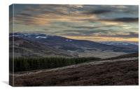 Sunset on the Lecht Valley, Canvas Print