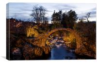 Carrbridge at Night, Canvas Print