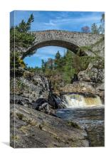 Garve Bridge, Little Garve, Canvas Print