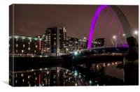 Squinty Bridge, Glasgow at Night, Canvas Print
