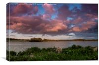 Sunset at Loch Skene, Canvas Print