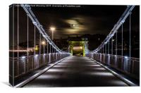 Wellington Bridge at Night, Canvas Print