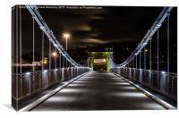 Wellington Bridge, Aberdeen at Night, Canvas Print